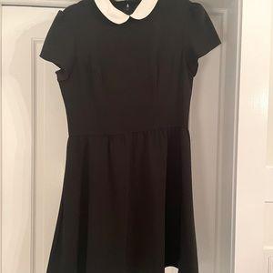 Top shop black collar dress